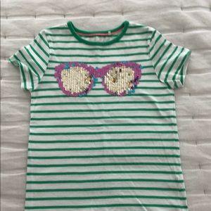 Mini Boden flip sequin tee shirt